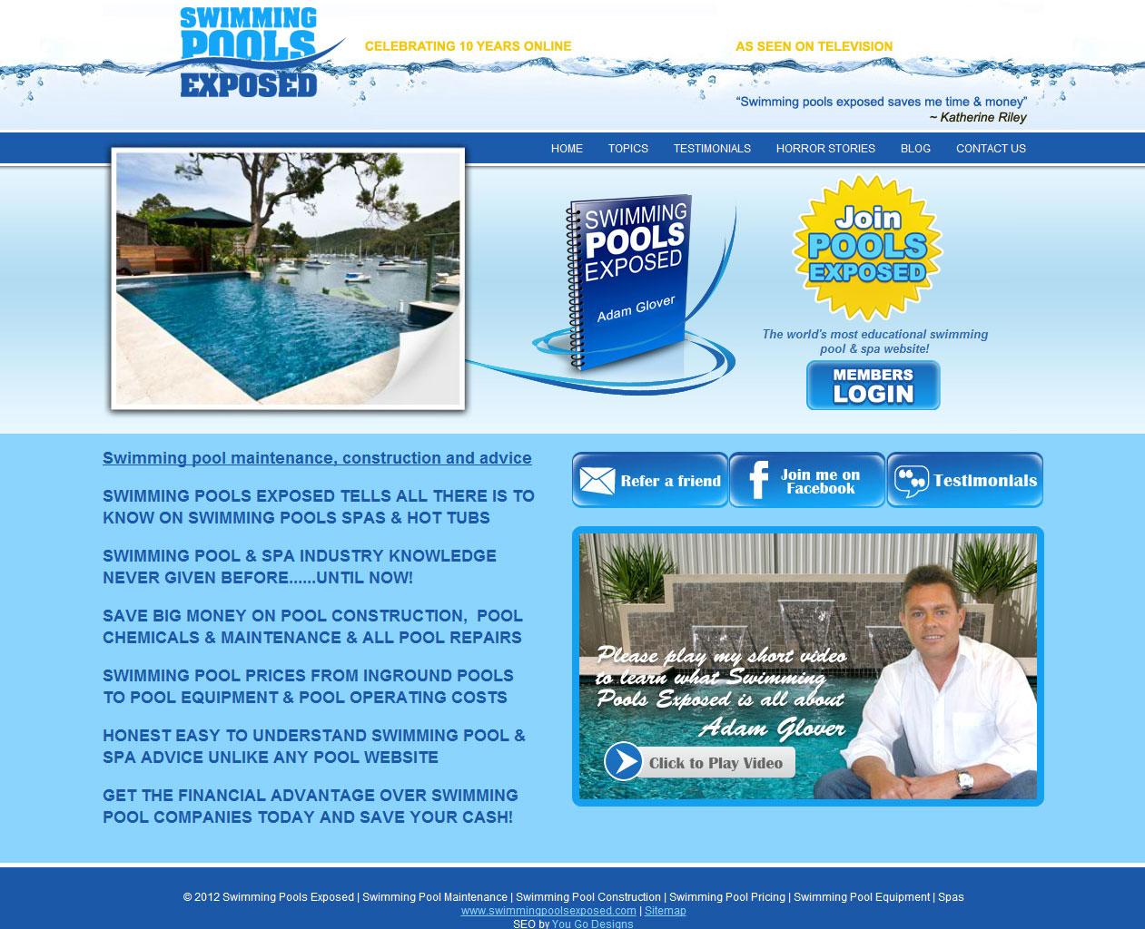 Project Description. Swimming Pools ...