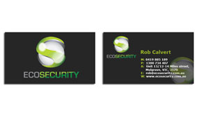security-company-business-card-design