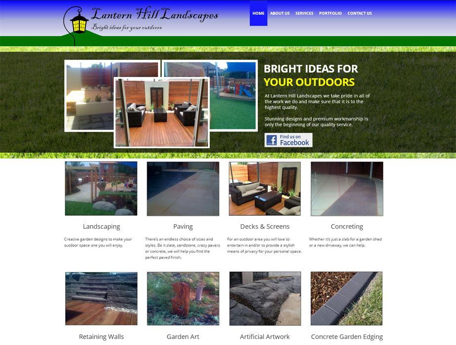Landscape website design latern hill landscapes for Garden design websites