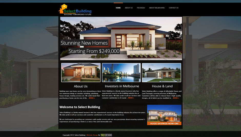 Select building website design house website design for Decorating sites