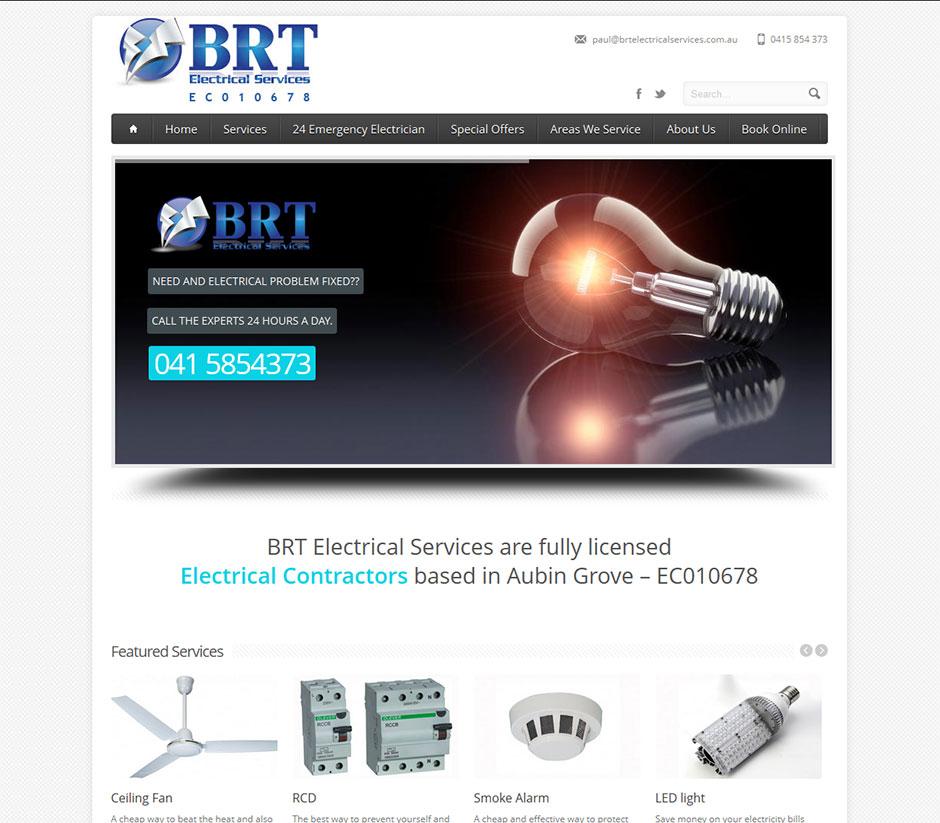 BRT Electrical Services Website Design - Cheap Website Design ...