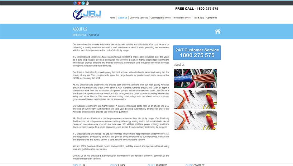 electrician website design