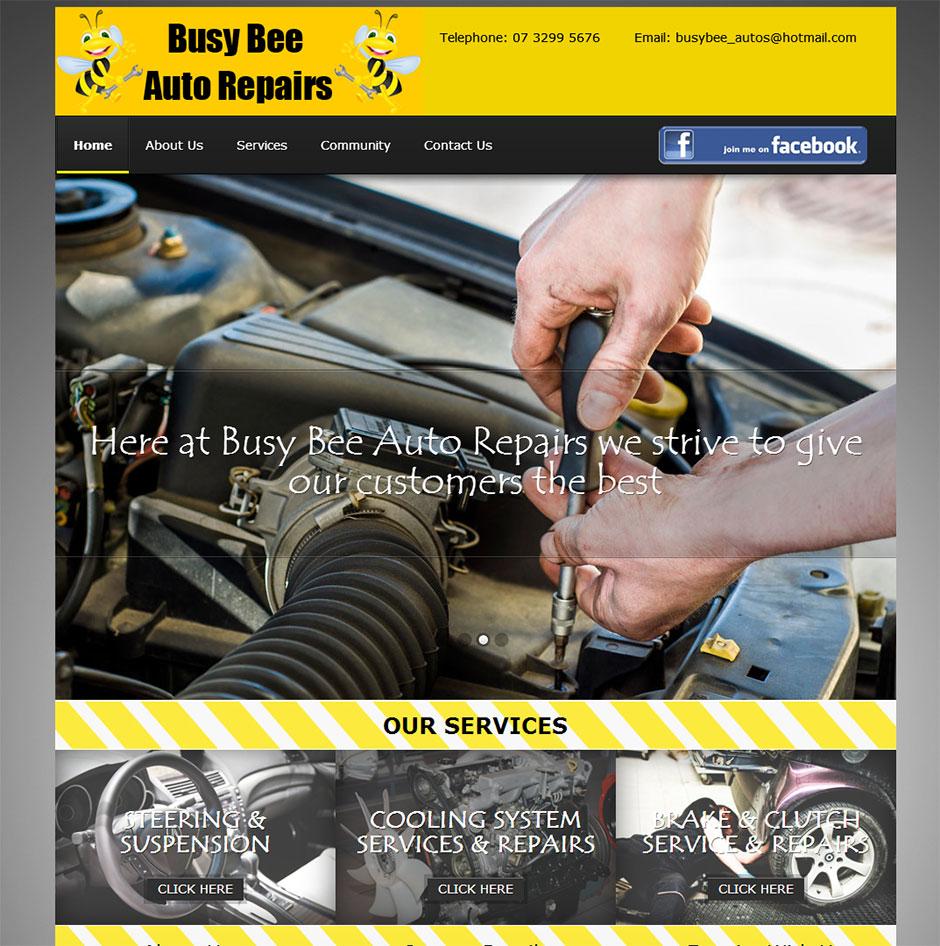 Busy Bee Auto Repairs Web Design Cheap Website Design