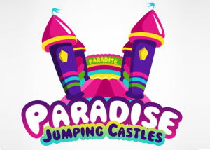 Paradise-Jumping-Castles-Logo-Design