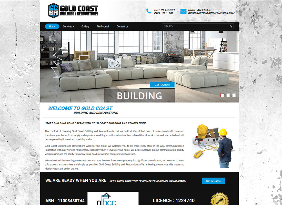 Gold coast building website design cheap website design for Coastal building design