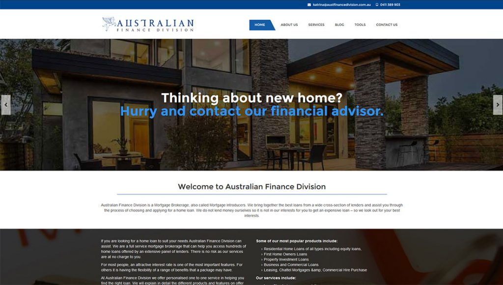 Australian-Finance-Division-Website-Design