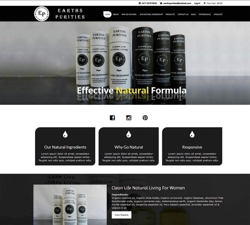 Earths-Purities-Website-Design