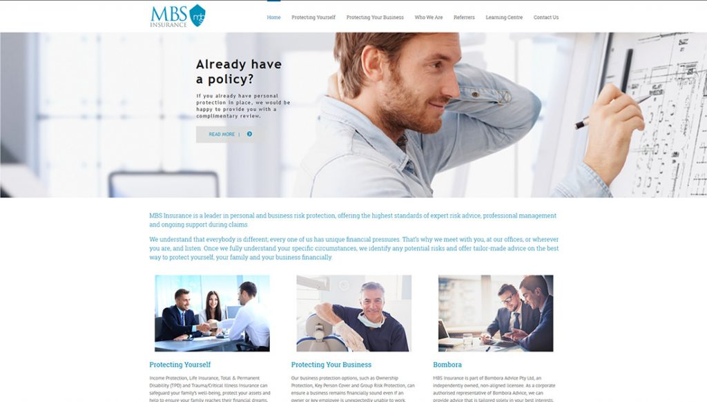 MBS-Insurance-Website-Design