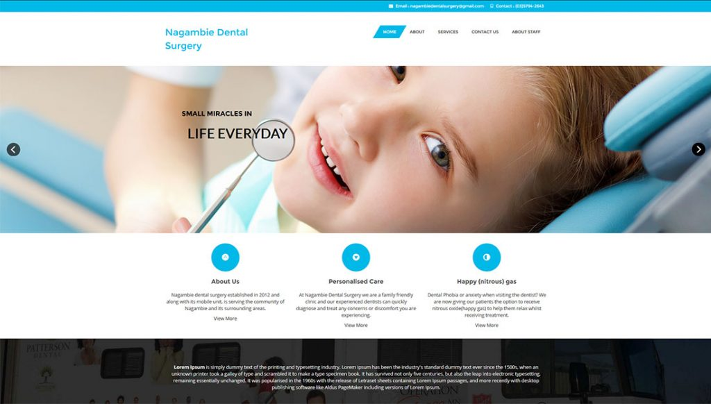 Nagambie-Dental-Surgery-Website-Design