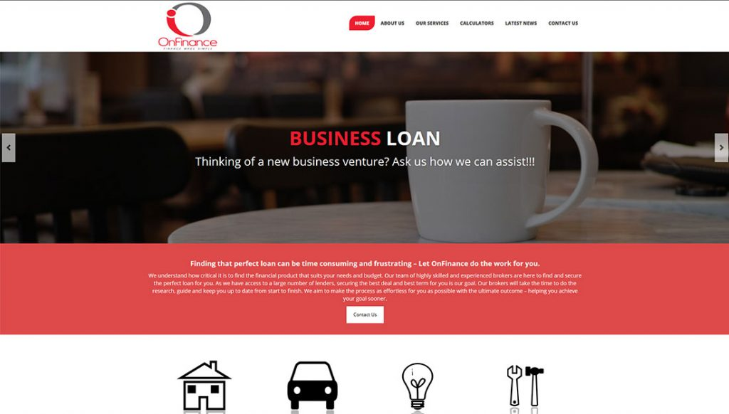 On-Finance-Website-Design