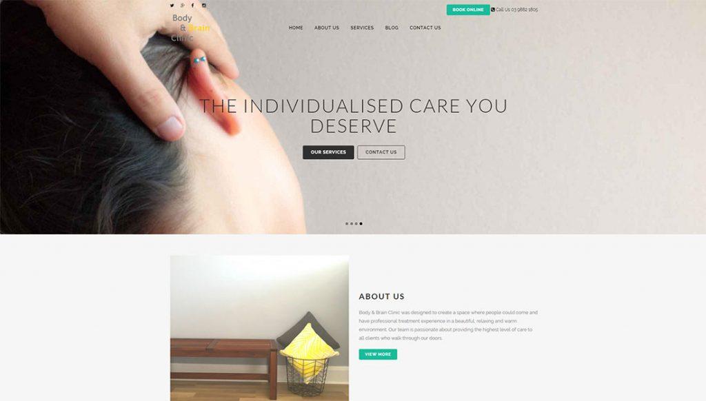 body-clinic-website-design